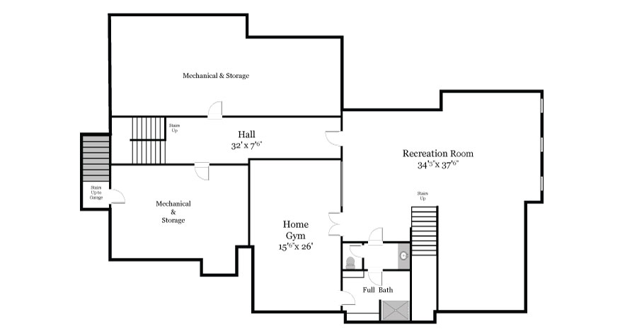 Plan View of the Lower Floor