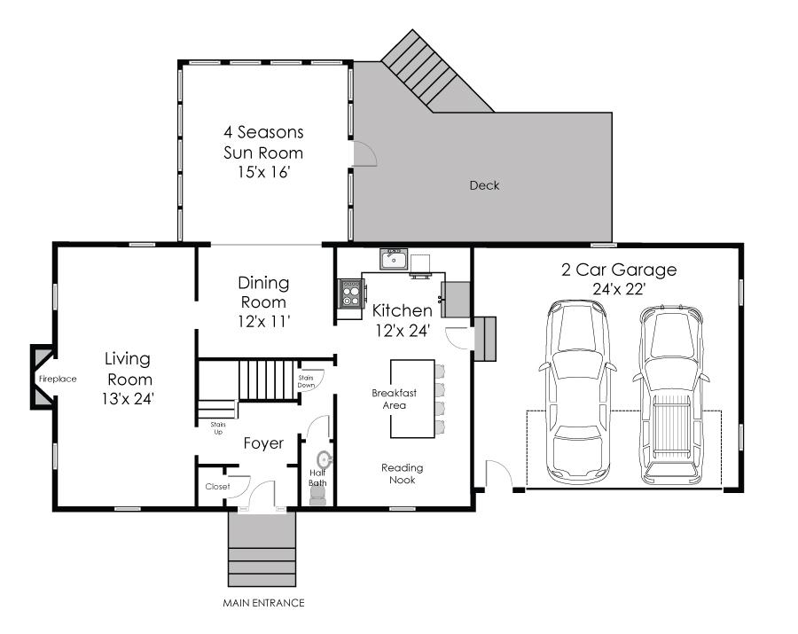 Kitchen Floor Plans 12x12 - Kitchen Design Ideas