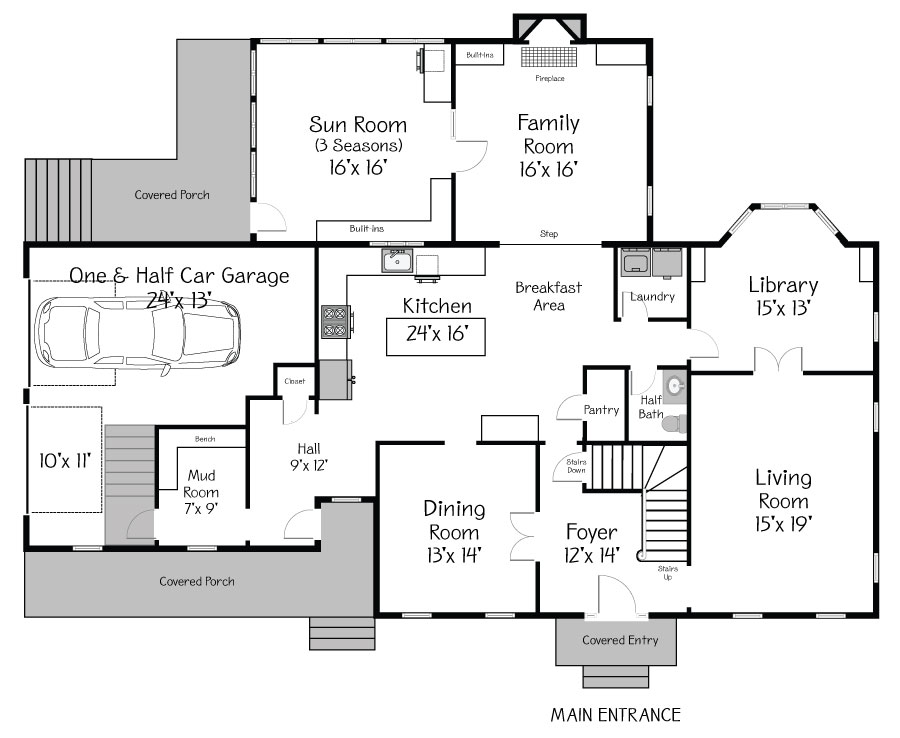 Plan View of the Main Floor